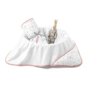 Ręcznik bawełniany z kapturem 90×90 cm MilkyWay Peach M