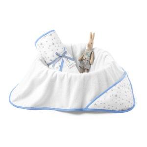 Ręcznik bawełniany z kapturem 90×90 MilkyWay Blue M