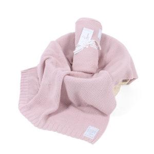 Kocyk tkany CottonClassic Zamglony róż