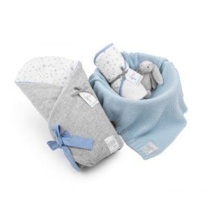 Wyprawka MilkyWay Blue (rożek+ręcznik+dowolny kocyk)