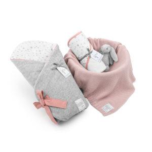 Wyprawka MilkyWay Peach (rożek+ręcznik+dowolny kocyk)