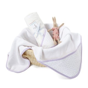 Ręcznik z kapturem Lavender Dots 0-4 lat