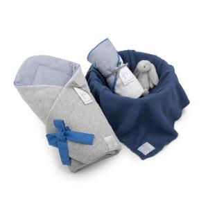 Wyprawka Navy Blue (rożek+ręcznik+dowolny kocyk)