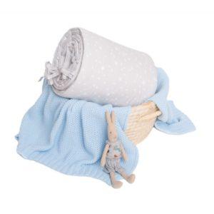 Ochraniacz MilkyWay Grey na całe łóżeczko 70×140