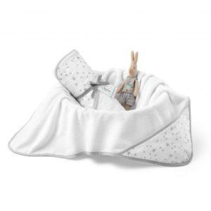 Ręcznik bawełniany z kapturem  90×90 cm MilkyWay White M