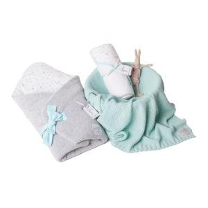 Wyprawka MilkyWay Mint (rożek+ręcznik+dowolny kocyk)
