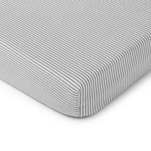 Prześcieradło do łóżeczka w paski 120×60 cm