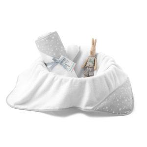 Ręcznik bawełniany z kapturem 90×90 cm MilkyWay Grey M