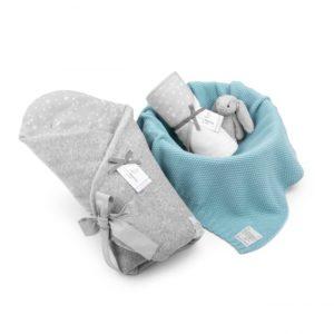 Wyprawka MilkyWay Grey (rożek, ręcznik, dowolny kocyk)