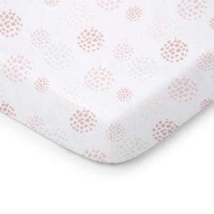 Prześcieradło do łóżeczka Dots zamglony róż 140×70 cm
