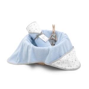 Ręcznik bawełniany z kapturem 90×90 Niebieski MilkyWay M