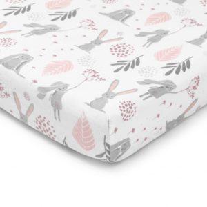 Prześcieradło do łóżeczka Bunny 120×60 cm