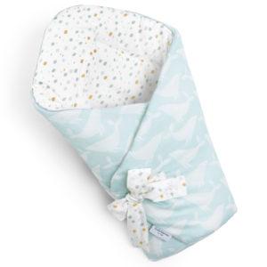 Rożek <b>niemowlęcy</b> <em>Whales Aqua </em>