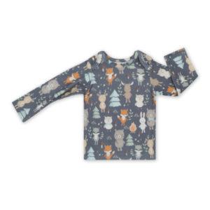 Bluzeczka<b> niemowlęca </b><em> Woodland Grey 62-68cm </em>