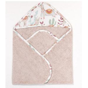 Ręcznik <b>bawełniany</b> <em> Lazy Llamas Beige </em>