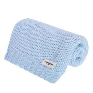 Kocyk Bawełniany S <b>CottonClassic</b> <em> Baby blue</em>