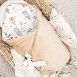 Rożek <b>niemowlęcy ocieplany</b> <em> Woodland</em>