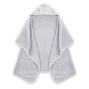 Ręcznik z kapturem <i> 70x125cm </i> <b>Bunny NEW </b><em> Jasny szary </em>