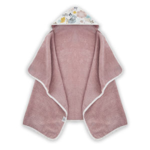 Ręcznik z kapturem <i> 70x125cm </i> <b> Mom and me </b><em> Brudny róż </em>