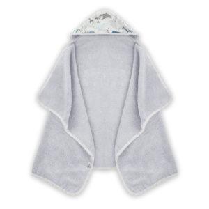 Ręcznik z kapturem <i> 70x125cm </i> <b> Ocean </b><em> Jasny szary</em>