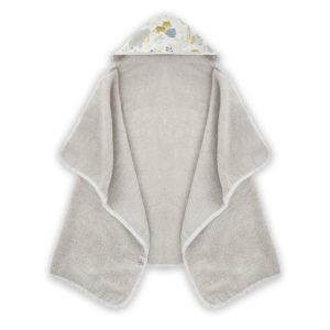 Ręcznik z kapturem <i> 70x125cm </i> <b> Wild Safari </b><em> Beżowy </em>