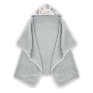 Ręcznik z kapturem <i> 70x125cm </i> <b> Woodland </b><em> Ciemny szary </em>
