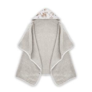 Ręcznik z kapturem <i> 70x125cm </i> <b>Forest Friends</b><em> Beżowy </em>