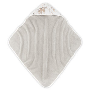 Ręcznik z kapturem <i>85x85cm</i> <b>Forest Friends</b><em> Beżowy </em>